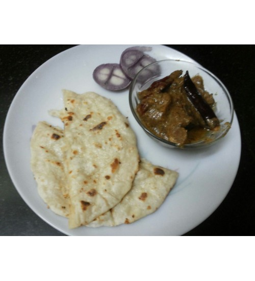 Butter Nan with Mutton Rezala