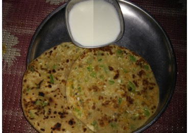 Cheese and Vegetable Parathas