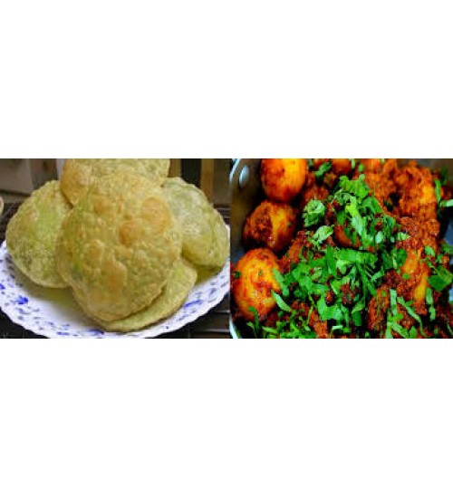 Green Peas Kachori & Dumaloo