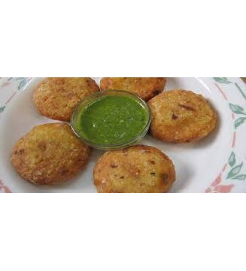 Coconut Kachori with Green Chutney